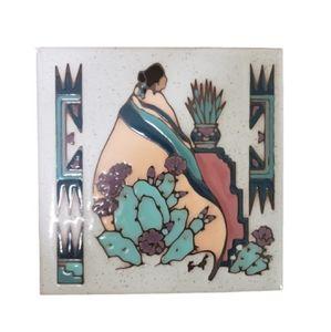 Vintage 90s Navajo American Southwestern Art 1990s